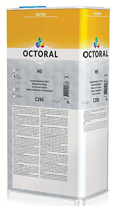 octoral c250 scratch resistant clearcoat 5l. Black Bedroom Furniture Sets. Home Design Ideas